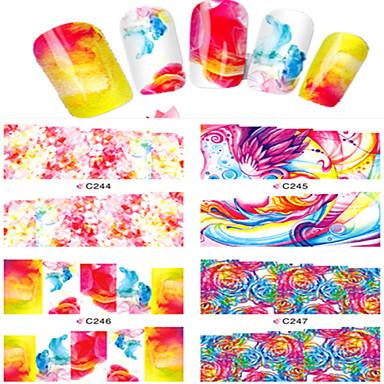 8pcs Nail Art tarra Vesi Siirto Tarra Cartoon Lovely meikki Kosmeettiset Nail Art Design