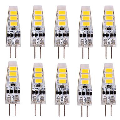 YWXLIGHT® 10 Stück 2W 200 lm G4 LED Doppel-Pin Leuchten T 6 Leds SMD 5730 Dekorativ Warmes Weiß Kühles Weiß DC 12V