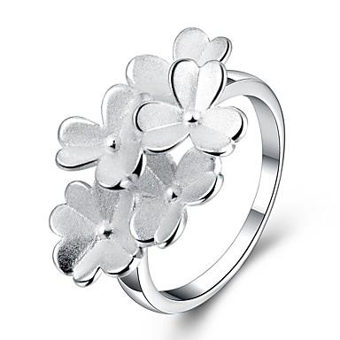 Dame Statement Ring Sølv Sølvplett Mote Europeisk Fest Kostyme smykker
