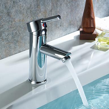 3-Loch-Armatur Keramisches Ventil Einhand Fünf Löcher Chrom, Waschbecken Wasserhahn