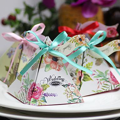 Kreativ Kartonpapier Geschenke Halter Mit Bänder Geschenkboxen Geschenk Schachteln