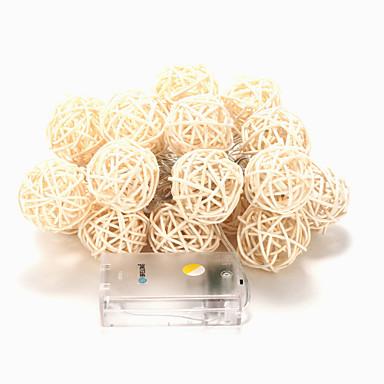 brelong 20-led 2m quente branco decoração decoração luz de corda (dc4.5v)