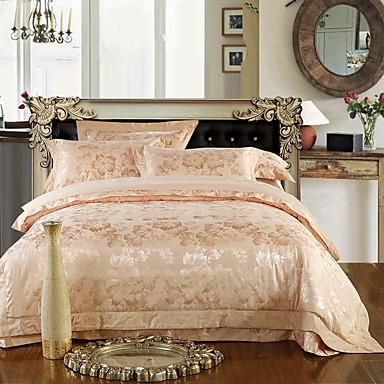 Geometrisch Seide/Baumwolle 4 Stück Bettbezug-Sets