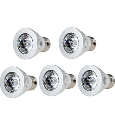5pçs 3W 250 lm E14 GU10 GU5.3(MR16) E26/E27 Luz de LED para Cenários 1 leds LED de Alta Potência Regulável Decorativa Controle Remoto RGB