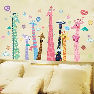 Dekorative Mur Klistermærker - Animal Wall Stickers Landskap Dyr Stue Soverom Baderom Kjøkken Spisestue Leserom / Kontor Drengeværelse