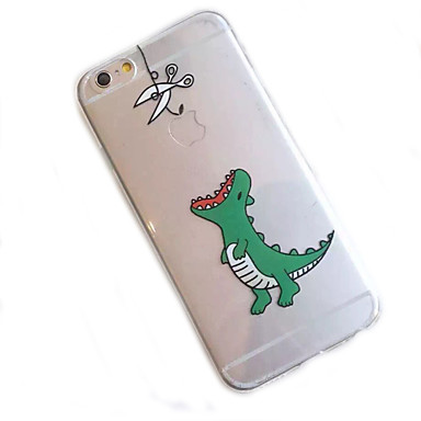 iphone 7 פלוס דפוס דינוזאור קטן במקרה טלפון חומרים שקוף עבור iPhone 6 / 6s / 6plus / 6s פלוס