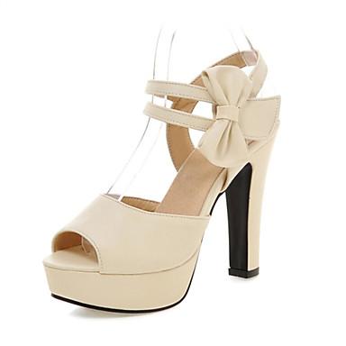 נעלי נשים-סנדלים-דמוי עור-עקבים-שחור / ורוד / סגול / בז'-חתונה / משרד ועבודה / שמלה / קז'ואל / מסיבה וערב-עקב עבה