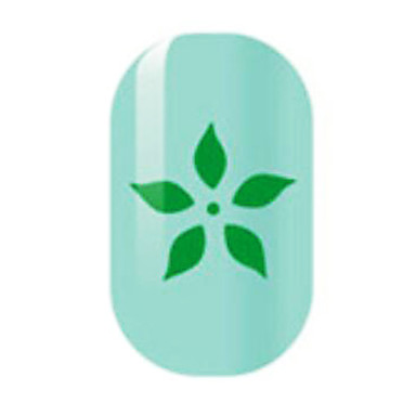 grün hohlen Nagel Aufkleber