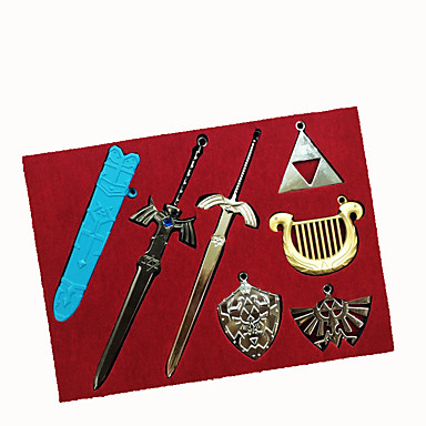 Meer Accessoires geinspireerd door The Legend of Zelda Cosplay Anime/ Computer Games Cosplay Accessoires Sleutelhanger Zilver Legering