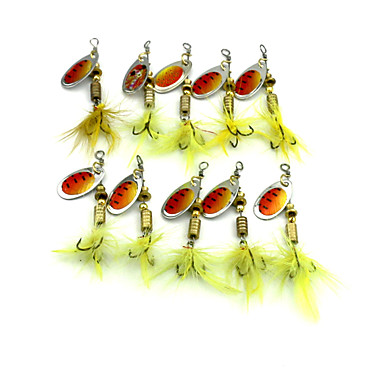 10pcs pçs Iscas Iscas Buzzbait & Spinnerbait Colheres Cores Aleatórias g/Onça,60mm mm/2-3/8