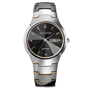 Herren Armbanduhr Automatikaufzug Kalender / Wasserdicht Edelstahl Band Silber / Rotgold Marke