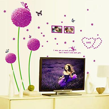 אופנה פרחים מדבקות קיר מדבקות קיר מטוס מדבקות קיר דקורטיביות חוֹמֶר ניתן להסרה קישוט הבית מדבקות קיר
