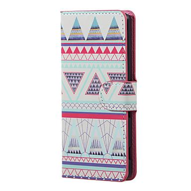 Käyttötarkoitus LG kotelo kotelot kuoret Korttikotelo Tuella Flip Kuvio Etui Geometrinen printti Kova varten LG LG K5