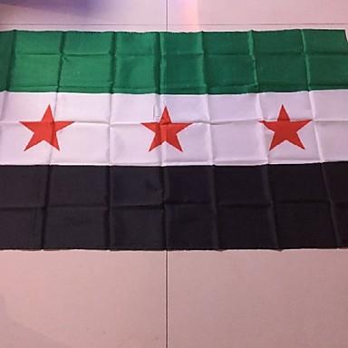 90 * 150 cm Flucht shoping 1pcs syrien Flagge sy syr neue Syrische Arabische Republik Nationalflagge (ohne Fahnenstange)