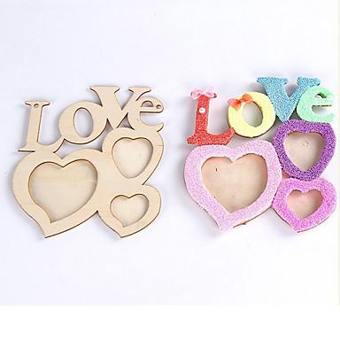 romatic hohlen Liebesbriefe aus Holz Fotorahmen DIY Bilderrahmen Kunstdekor