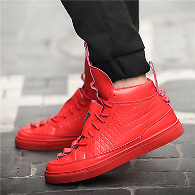 Men's Shoes Outdoor / Office & Career / Party & Evening / Casual Synthetic / Fashion Sneakers Black / Blue / Red