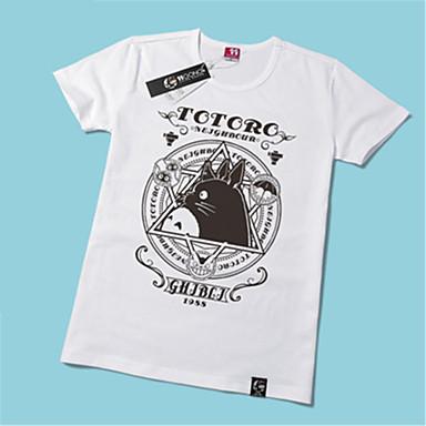 Inspirado por Meu Vizinho Totoro Gato Anime Fantasias de Cosplay Cosplay T-shirt Estampado Manga Curta Camiseta Para Unisexo