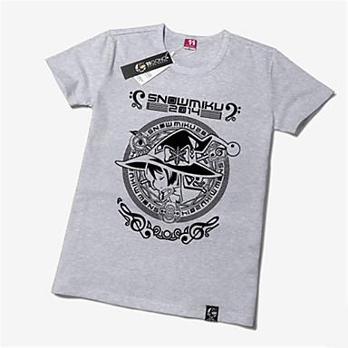 Inspiriert von Vocaloid Snow Miku Anime Cosplay Kostüme Cosplay-T-Shirt Druck Kurzarm T-shirt Für Unisex