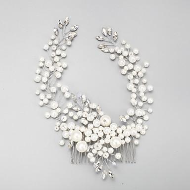 abordables Bijoux de Cheveux-Imitation de perle / Strass / Alliage Peignes avec 1 Mariage / Occasion spéciale Casque