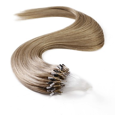 Neitsi 100% Menschenhaarverlängerungen Mikroringschleifen Haar 24 Zoll 25 Stränge
