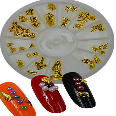 -Finger / Zehe / Andere-Nail Schmuck / Andere Dekorationen-Metall-1pcs White Round Bowl Gold jewelrys have 12 designsStück -5*5cm