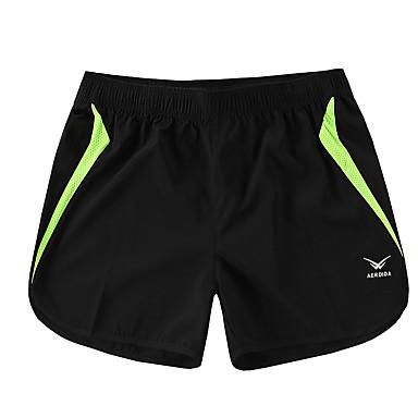 Homens Shorts de Corrida Respirável Elástico Shorts Calças Exercício e Atividade Física Corridas Corrida M L XL XXL