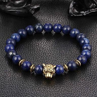 abordables Bracelet-Bracelet à Perles Unisexe Cristal Hawks Eye Stone Cristal Animal Panthère dames Personnalisé Inspiration Bracelet Bijoux Gris Marron Bleu pour Quotidien Décontracté