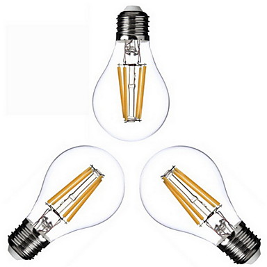 KWB 3 Stück 4W 400 lm E26/E27 LED Glühlampen A60(A19) 4 Leds COB Warmes Weiß Wechselstrom 110-130V Wechselstrom 220-240V