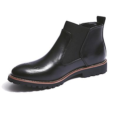 Bărbați Pantofi Piele Iarnă Toamnă Chelsea boot- Confortabili Cizme 2
