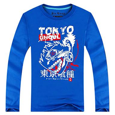 Inspiriert von Tokyo Ghoul Ken Kaneki Anime Cosplay Kostüme Cosplay Tops / Bottoms Druck Langarm Top Für Mann