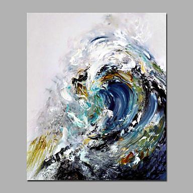 levne Obrazy a nástěnné dekorace-Hang-malované olejomalba Ručně malované - Abstraktní evropský styl S rámem / Reprodukce plátna