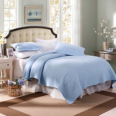 Komfortabel 2stk Euro Pudebetræk 1stk dyne, Vanlig 100% Bomull Vanlig 100% Bomull Garn Bleket Geometrisk