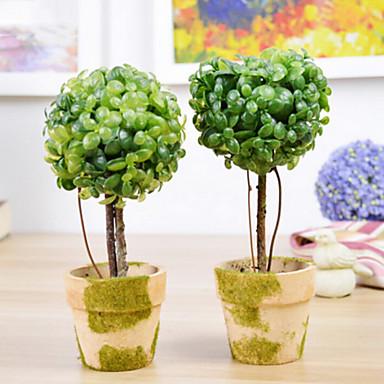 europäischen Stil künstliche Blume mit Vase miniascape Set für zu Hause Fenster decorartion (gelegentliche Farbe)