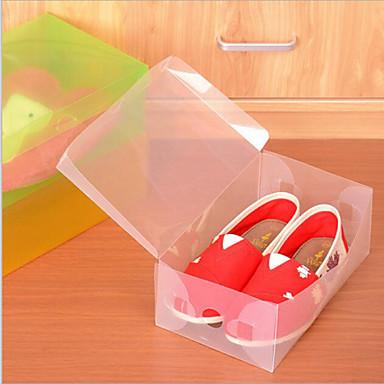 Plast Oval Med lokk Hjem Organisasjon, 1pc Oppbevaringskasser