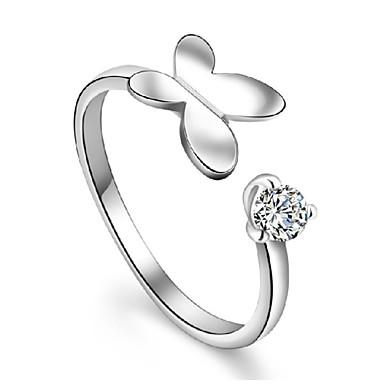 חמוד / מסיבה / עבודה מצופה כסף טבעת מתכווננת