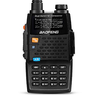 billige Walkie-talkies-BAOFENG UV-5R 4TH Håndholdt / Digital Lader og adapter / Stemmekommando / Strømskifter høy / lav 1,5-3 km 1,5-3 km 128 2800mAh 5/1 W Walkie Talkie Toveis radio