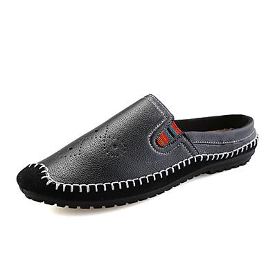 Miehet kengät PU Kesä Syksy Mokkasiinit Valopohjat Puukengät Käyttötarkoitus Kausaliteetti Musta Ruskea Sininen