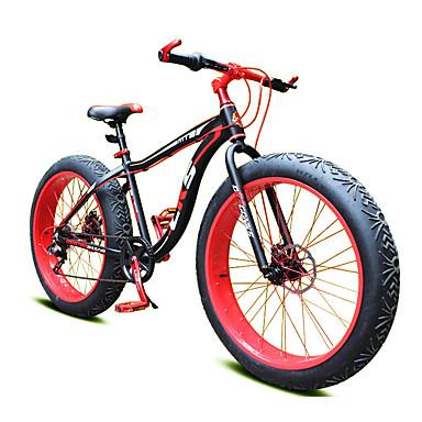 Горный велосипед Велоспорт 7 Скорость 26 дюймы/700CC Shimano Двойной дисковый тормоз Вилка Моноблок Обычные Сталь