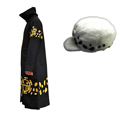 Inspired by One Piece Trafalgar Law Anime Cosplay Costumes Cosplay Suits Print Cloak Hat For Men's