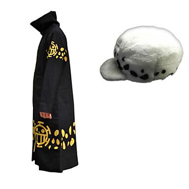 Ihlette One Piece Trafalgar Law Anime Szerepjáték jelmezek Cosplay ruhák Nyomtatott Köpeny Kalap Kompatibilitás Férfi