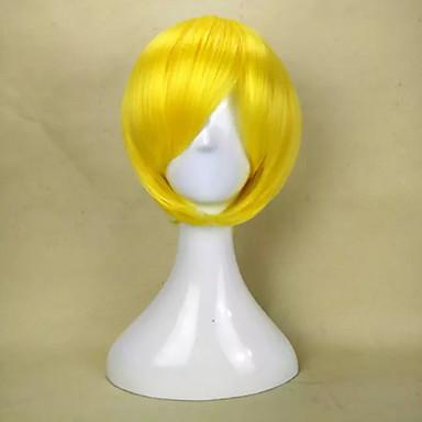 Synthetische Perücken Glatt Mit Pony Damen Kappenlos Kurz Synthetische Haare