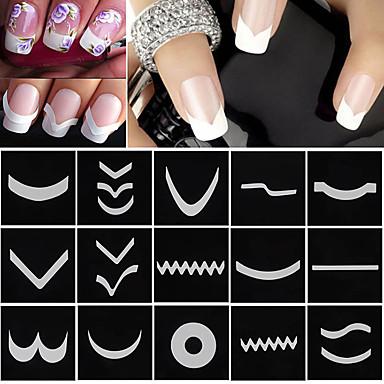 18 Mønster Klistermærker & Tape Neglelak Sæt Trendy Nail Art Design Negle Smykker Trendy