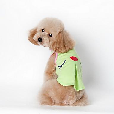 Kutyák Póló Kutyaruházat Divat Rajzfilm Zöld Rózsaszín