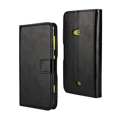 Varten Nokia kotelo Lomapkko / Korttikotelo / Tuella Etui Kokonaan peittävä Etui Yksivärinen Kova Tekonahka Nokia Nokia Lumia 625