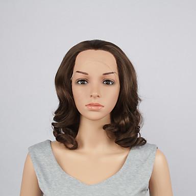 Synthetische Perücken Große Wellen Bubikopf Damen Spitzenfront Synthetische Haare