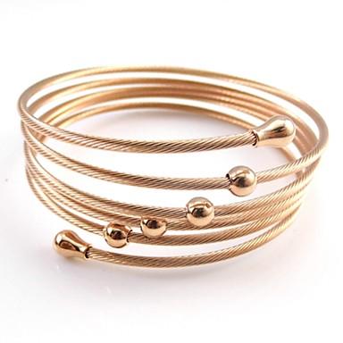 צמידים צמידים פלדת על חלד / ציפוי זהב חתונה / Party / יומי / קזו'אל תכשיטים מתנות מוזהב / ורד / שחור / כסף,1pc