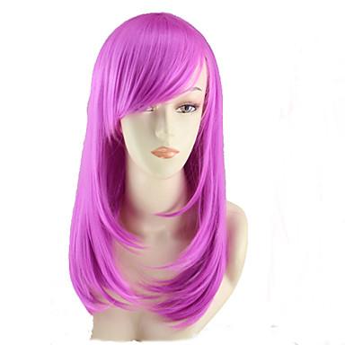 Syntetiske parykker Rett Asymmetrisk frisyre Syntetisk hår Naturlig hårlinje Rød Parykk Dame Medium / Mellemlængde Cosplay-parykk /