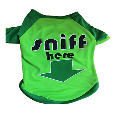 Dog Shirt / T-Shirt Dog Clothes Letter & Number Green Costume For Pets