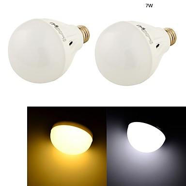 7W E26/E27 LED-pallolamput B 16 SMD 5730 550 lm Lämmin valkoinen / Kylmä valkoinen Koristeltu AC 220-240 V 2 kpl