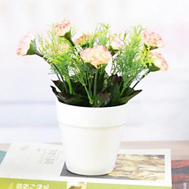 europäischen Stil künstliche Blume mit Vase miniascape für zu Hause Fenster decorartion gesetzt